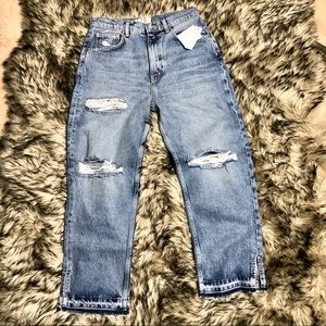 🆕 Free people very distressed ankle jeans